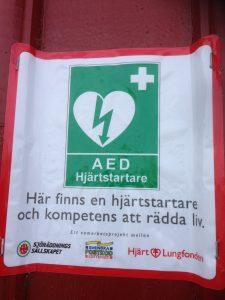 Hjärtstartare på Rörö.