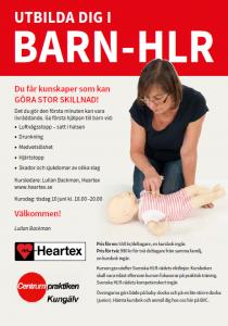 Barn- HLR, livräddande första hjälp till barn. Öppen kurs?