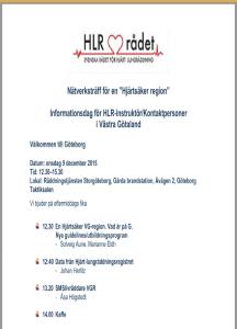 Nätverksträff för HLR-instruktörer i VGR