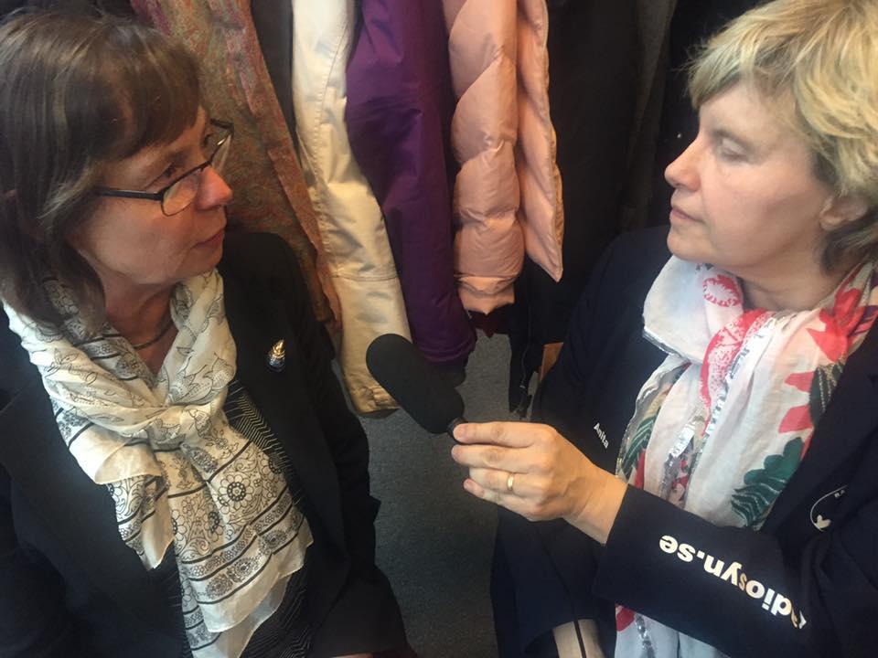 Anita Johansson Radiosyn intervjuar Lullan