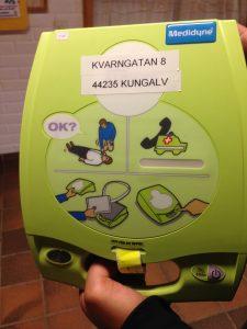 Zoll AED Plus på Kvarnkullen i Kungälv