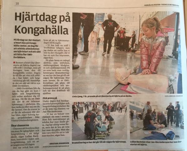 Restart a heart day - Kongahälla - Kungsälvs Posten