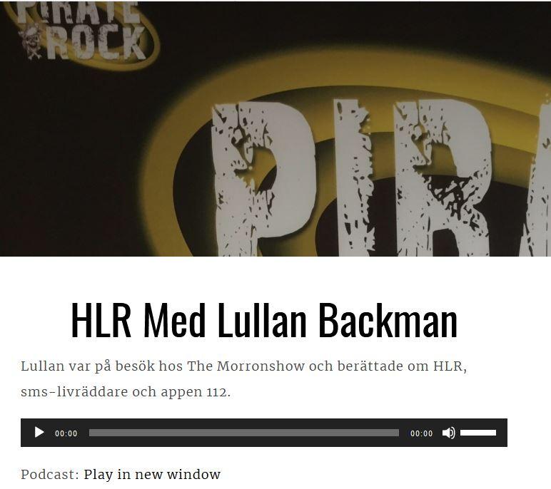 Intervju om HLR Pirate Rocke och Lullan Backman